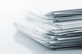 Stack of white papers